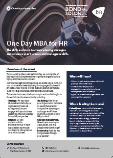 Download One Day MBA for HR