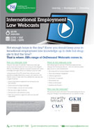 Download International Employment Law Webcasts