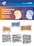 Download The Psychology of Effective Negotiation - Lessons from Neuroscience Whitepaper